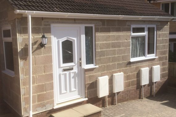 newly-built-porch-extension-before-machine-coloured-render-applied